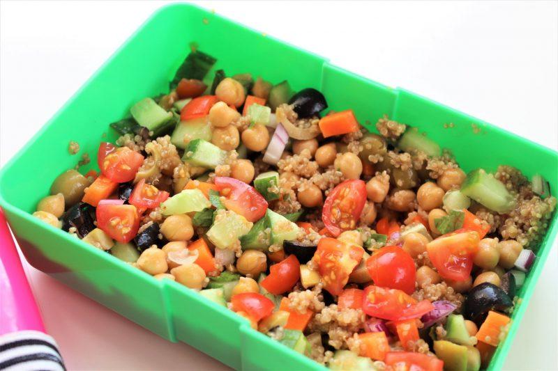 quinoa and chopped salad meal prep