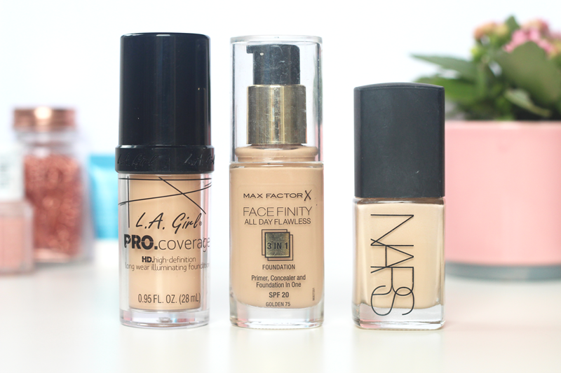 foundation LA Girl, MaxFactor, Nars