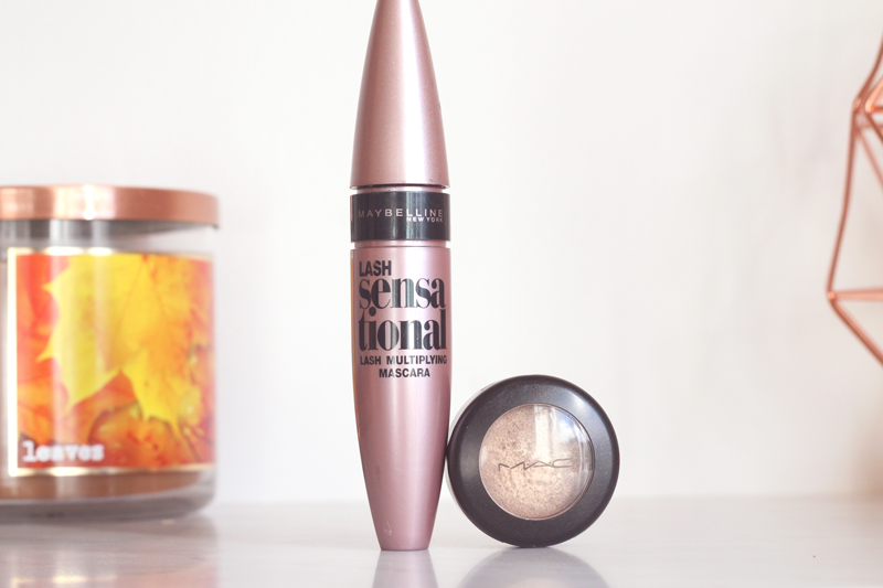 maybelline mascara mac eyeshadow