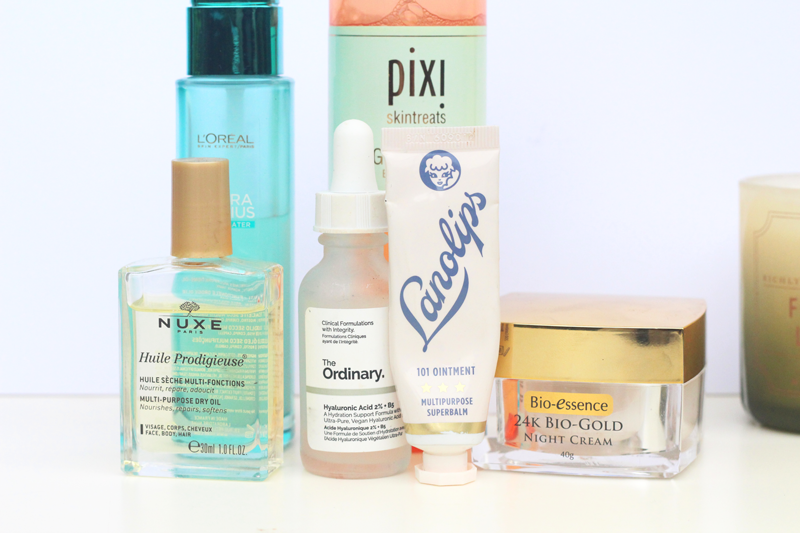 autumn evening skincare routine