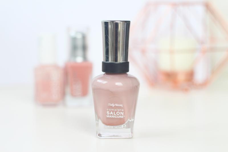 sally hansen mauve along nude pink nail polish